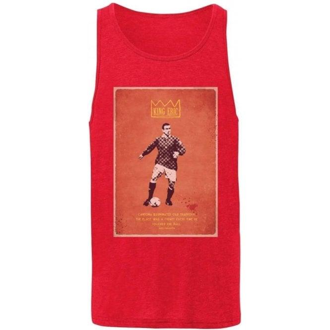 "Eric Cantona ""King Eric"" Vintage Poster Men's Tank Top"