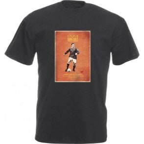 "Eric Cantona ""King Eric"" Vintage Poster Vintage Wash T-Shirt"