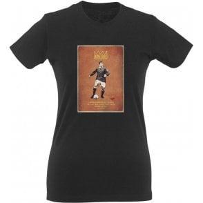 "Eric Cantona ""King Eric"" Vintage Poster Womens Slim Fit T-Shirt"