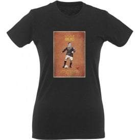 "Eric Cantona ""King Eric"" Vintage Poster Womens Slim Fit T-Shirt"