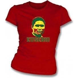 Eusebio-Legend Girl's Slim-Fit T-shirt