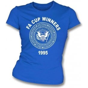 Everton FA Cup Winners 1995 (Ramones Style) Girl's Slim-Fit T-shirt