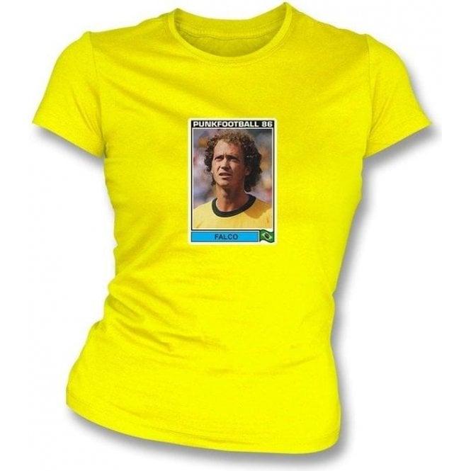 Falco 1986 (Brazil) Yellow Women's Slimfit T-Shirt