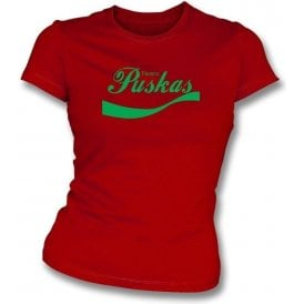 Ferenc Puskas (Hungary & Spain) Enjoy-Style Women's Slim Fit T-shirt
