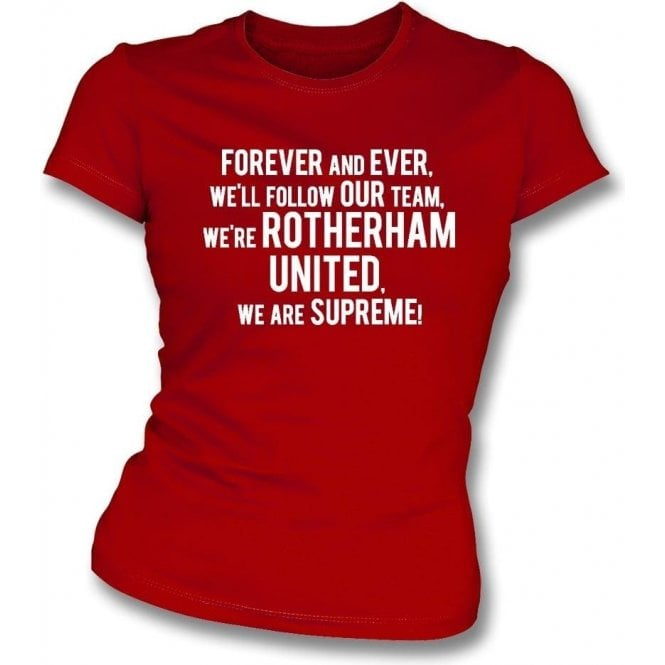 Forever And Ever Womens Slim Fit T-Shirt (Rotherham United)
