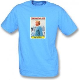Francis Lee 1970 (Man City) Sky Blue T-Shirt
