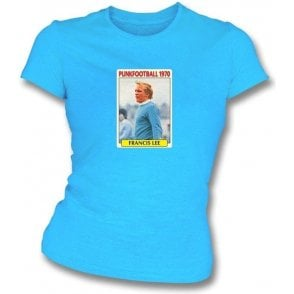 Francis Lee 1970 (Man City) Sky Blue Women's Slimfit T-Shirt