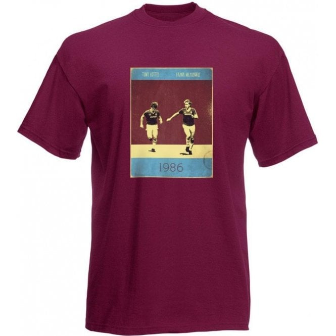 Frank McAvennie & Tony Cottee (1986) Vintage Poster T-Shirt