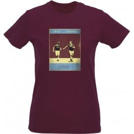 Frank McAvennie & Tony Cottee (1986) Vintage Poster Womens Slim Fit T-Shirt