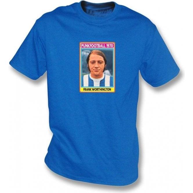 Frank Worthington 1970 (Huddersfield Town) Royal Blue T-Shirt
