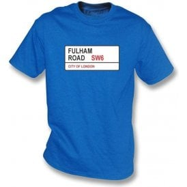 Fulham Road SW6 Kids T-Shirt (Chelsea)