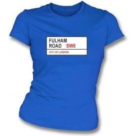 Fulham Road SW6 Women's Slimfit T-Shirt (Chelsea)