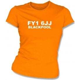FY1 6JJ Blackpool Women's Slimfit T-Shirt (Blackpool)