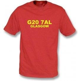 G20 7AL Glasgow T-Shirt (Partick)