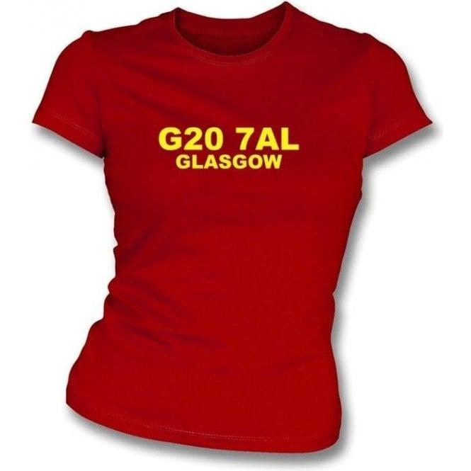 G20 7AL Glasgow Women's Slimfit T-Shirt (Partick)