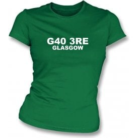 G40 3RE Glasgow Women's Slimfit T-Shirt (Celtic)