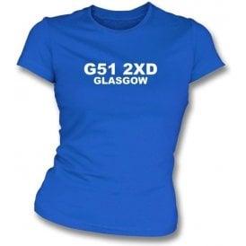 G51 2XD Glasgow Women's Slimfit T-Shirt (Rangers)
