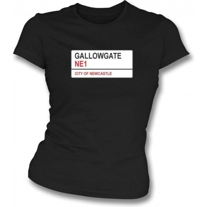 Gallowgate NE1 Women's Slimfit T-Shirt (Newcastle United)