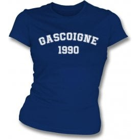 Gascoigne 1990 (England) Womens Slim Fit T-Shirt