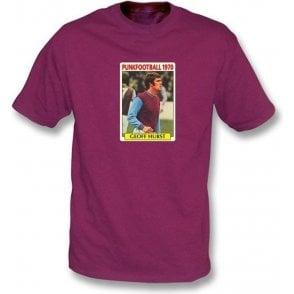 Geoff Hurst 1970 (West Ham) Maroon T-Shirt