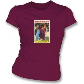 Geoff Hurst 1970 (West Ham) Maroon Women's Slimfit T-Shirt