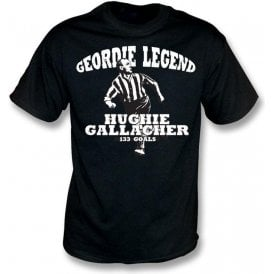 Geordie Legend Hughie Gallacher t-shirt
