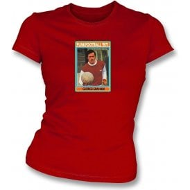 George Graham 1971 (Arsenal) Red Women's Slimfit T-Shirt