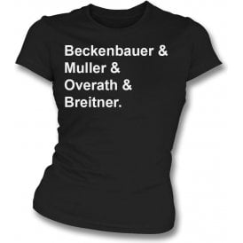 Germany World Cup 1974 Womens Slim Fit T-Shirt