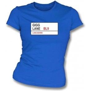 Gigg Lane BL9 Women's Slimfit T-Shirt (Bury)