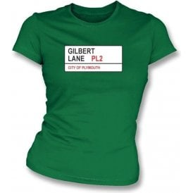 Gilbert Lane PL2 Women's Slimfit T-Shirt (Plymouth Argyle)