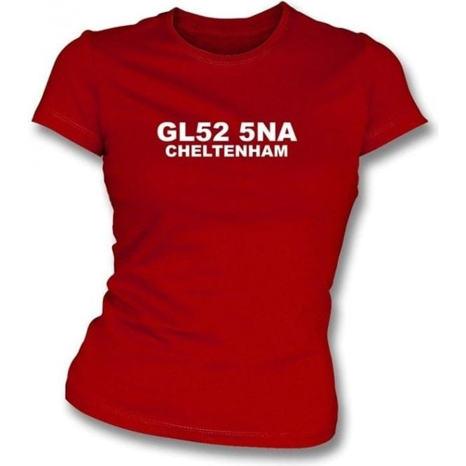 GL52 5NA Cheltenham Women's Slimfit T-Shirt (Cheltenham Town)