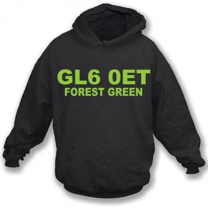 GL6 0ET Forest Green Hooded Sweatshirt