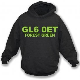 GL6 0ET Forest Green Kids Hooded Sweatshirt