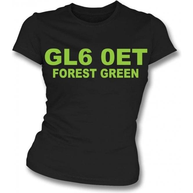 GL6 0ET Forest Green Womens Slim Fit T-Shirt