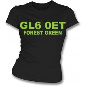 GL6 0ET Forest Green Womens Slim Fit T-Shirt