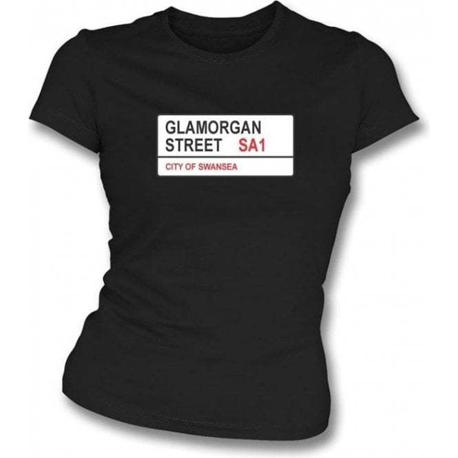 Glamorgan Street SA1 Women's Slimfit T-Shirt (Swansea)