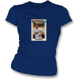 Glenn Hoddle 1988 (Spurs) Navy Women's Slimfit T-Shirt