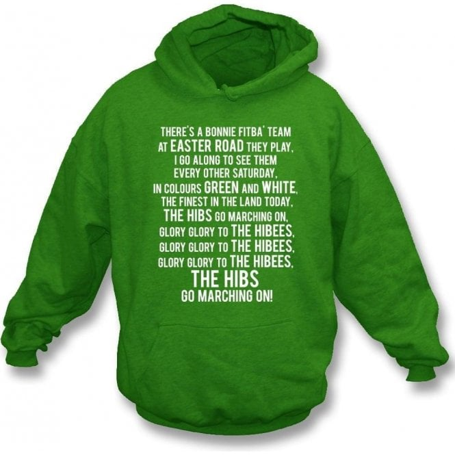Glory Glory To The Hibees (Hibernian) Hooded Sweatshirt
