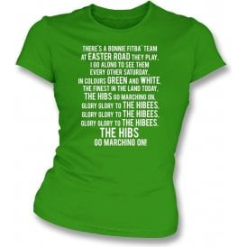 Glory Glory To The Hibees (Hibernian) Womens Slim Fit T-Shirt