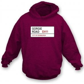Gorgie Road EH11 Hooded Sweatshirt (Hearts)