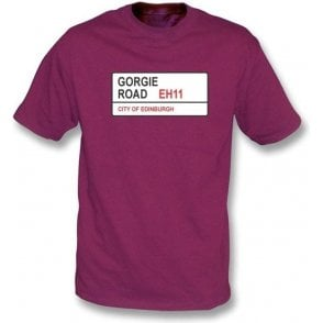 Gorgie Road EH11 T-Shirt (Hearts)