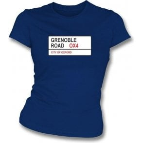 Grenoble Road OX4 Women's Slimfit T-Shirt (Oxford United)