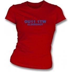 GU11 1TW Aldershot Women's Slimfit T-Shirt (Aldershot)