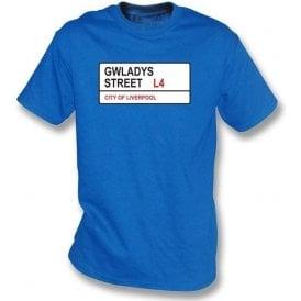 Gwladys Street L4 Kids T-Shirt (Everton)