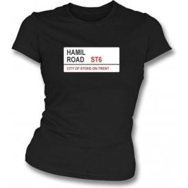 Hamil Road ST6 Women's Slimfit T-Shirt (Port Vale)