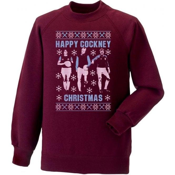 Happy Cockney Christmas (West Ham United) Sweatshirt