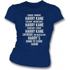 Happy Days Harry Kane (Tottenham Hotspur) Womens Slim Fit T-Shirt