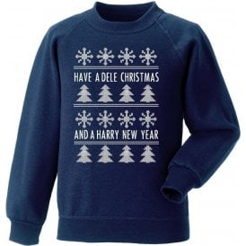 Have A Dele Christmas & A Harry New Year Kids Sweatshirt