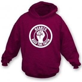 Hearts Keep the Faith Hooded Sweatshirt