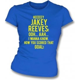 Hey Jakey Reeves (AFC Wimbledon) Womens Slim Fit T-Shirt